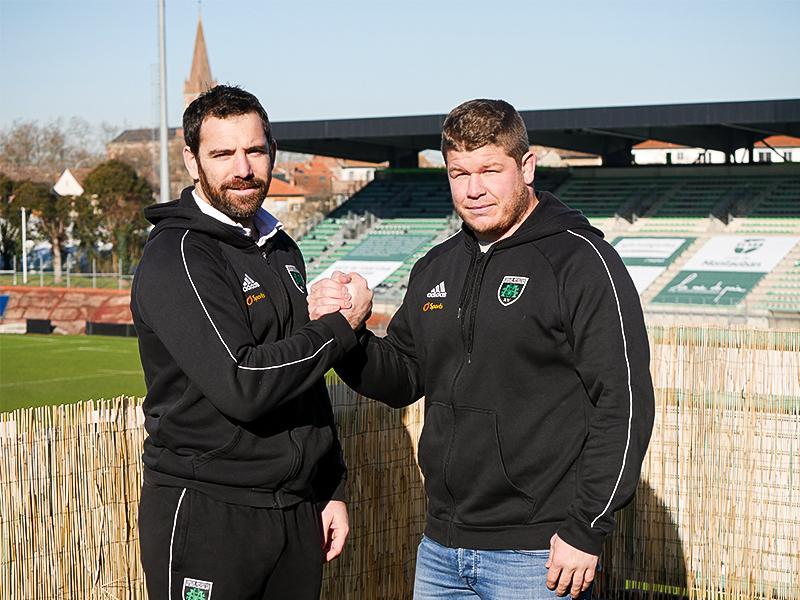 Cyril Deligny et Florian NINARD, directeur sportif de l'USM