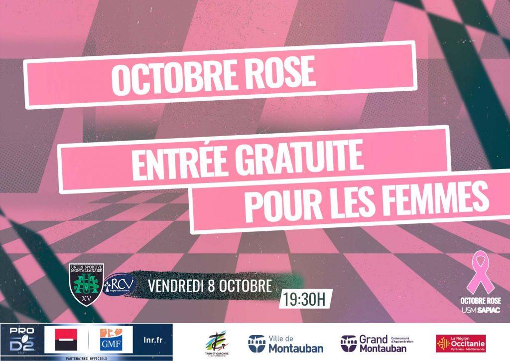 Entrée gratuite pour les femmes durant tout le mois d'Octobre